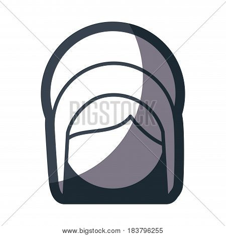 grayscale silhouette of faceless head of saint virgin mary vector illustration