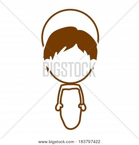 brown silhouette of faceless image of baby jesus vector illustration