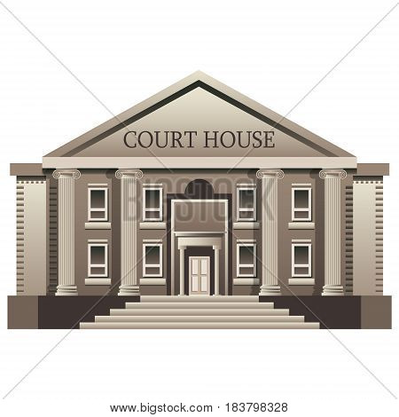 Court House isolated. Vector illustration on white background