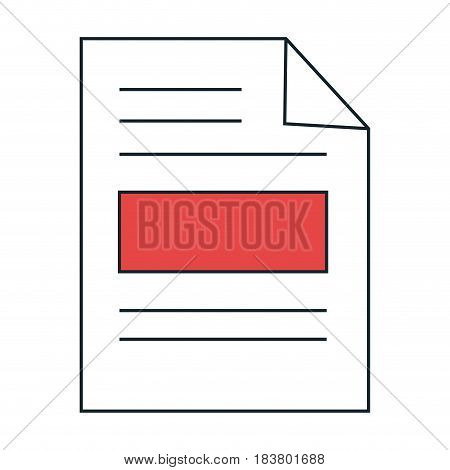 paper leaf notebook icon vector illustration design