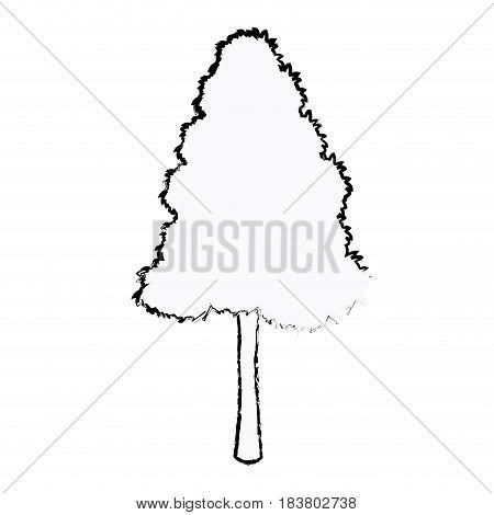 tree foliage environment season botanical sketch vector illustration