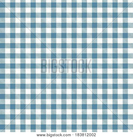 Blue seamless Gingham and Buffalo Check Plaid pattern. Tablecloths fabric texture stamp for apparel gift wrapping paper sleepwear pillow shirt and other textile products. Vector illustration