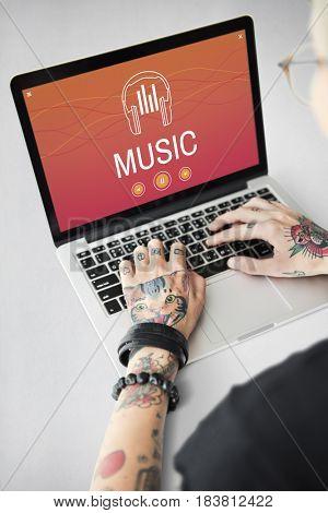 Headphones Music Enjoyment Jazz Pop