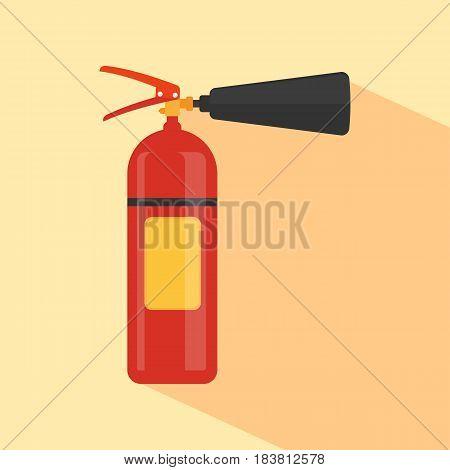 extinguisher flat icon isolated on background. Vector illustration. Eps 10.