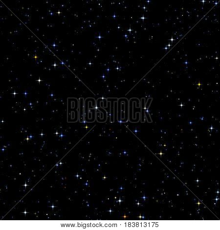2d illustration of a seamless stars background