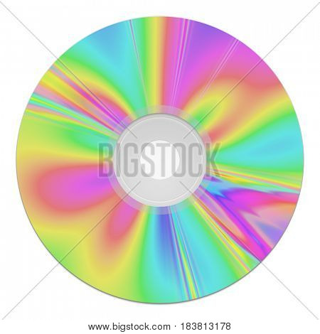 2d illustration of a colorful cd-rom music data storage