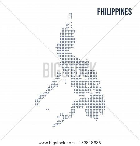Vector Dotted Map Of Philippines Isolated On White Background .