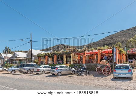 BARRYDALE SOUTH AFRICA - MARCH 25 2017: A A well known restaurant the Country Pumpkin in Barrydale a small town on the scenic Route 62 in the Western Cape Province