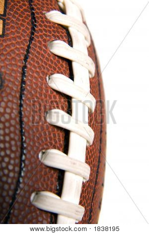 Macro Of Football Stitches