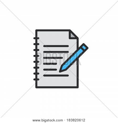 Fill in form line icon filled outline vector sign linear colorful pictogram isolated on white. Edit symbol logo illustration. Editable stroke. Pixel perfect