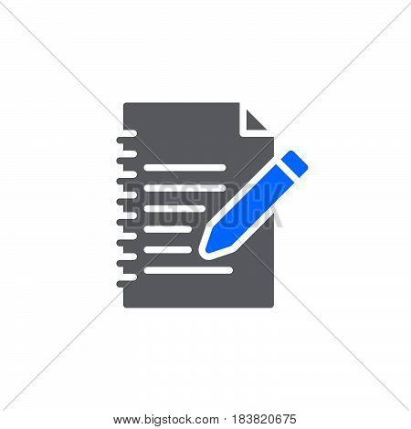 Fill in form icon vector filled flat sign solid colorful pictogram isolated on white. Edit symbol logo illustration. Pixel perfect