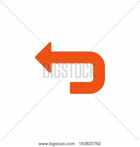 Back arrow icon vector filled flat sign solid colorful pictogram isolated on white. Undo symbol logo illustration. Pixel perfect