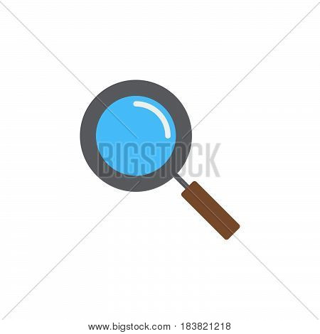 Magnifying glass icon vector filled flat sign solid colorful pictogram isolated on white. Search find symbol logo illustration. Pixel perfect