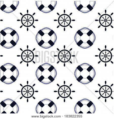 rudder wheel background. vector illustration icon sea