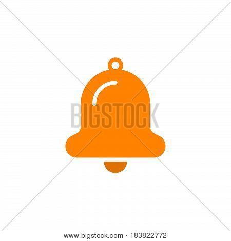 Bell icon vector filled flat sign solid colorful pictogram isolated on white. Alarm notification symbol logo illustration. Pixel perfect