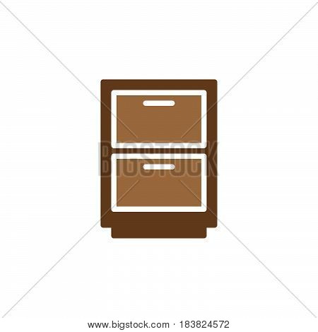 Cabinet archive icon vector filled flat sign solid colorful pictogram isolated on white. Symbol logo illustration. Pixel perfect
