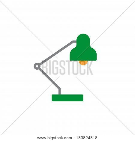 Desk lamp icon vector filled flat sign solid colorful pictogram isolated on white. Symbol logo illustration. Pixel perfect