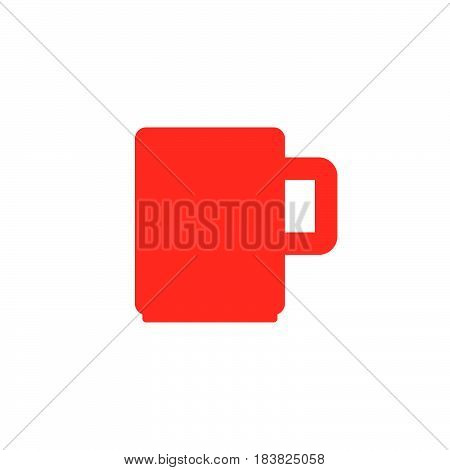 Mug icon vector filled flat sign solid colorful pictogram isolated on white. Symbol logo illustration. Pixel perfect