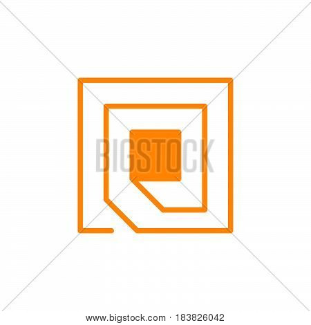 Rfid chip icon vector filled flat sign solid colorful pictogram isolated on white. Symbol logo illustration. Pixel perfect