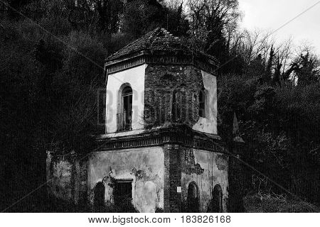 Ruins Of Gothic Chapel In Chivasso, Italy