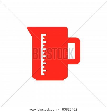 Measuring cup colorful vector icon filled flat sign solid pictogram isolated on white. Symbol logo illustration. Pixel perfect