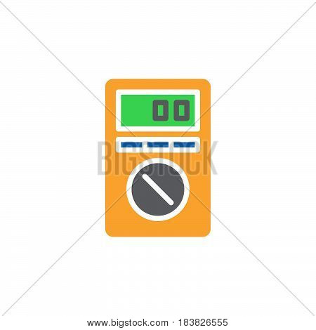 Digital Multimeter colorful vector icon filled flat sign solid pictogram isolated on white. Symbol logo illustration. Pixel perfect