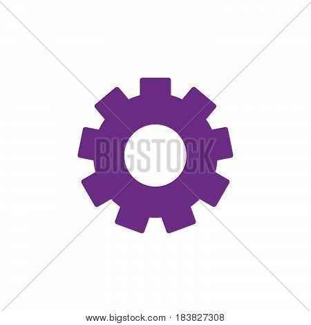 Gearwheel settings colorful vector icon filled flat sign solid pictogram isolated on white. Symbol logo illustration. Pixel perfect