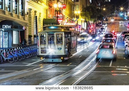 San Francisco- Usa, The Cable Car Tram