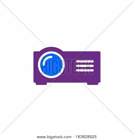Presentation digital projector icon vector filled flat sign solid colorful pictogram isolated on white. Symbol logo illustration. Pixel perfect