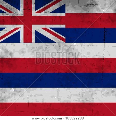 Illustration of Hawai country flag on a textured background