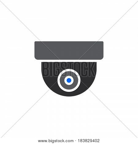 Surveillance dome camera icon vector filled flat sign solid pictogram isolated on white. Symbol logo illustration. Pixel perfect