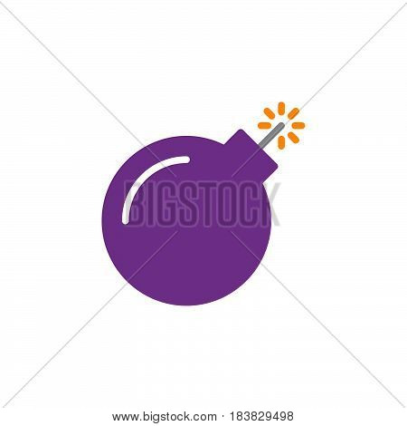 Bomb icon vector filled flat sign solid colorful pictogram isolated on white. Symbol logo illustration. Pixel perfect