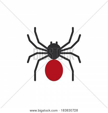 Spider icon vector filled flat sign solid colorful pictogram isolated on white. Symbol logo illustration. Pixel perfect