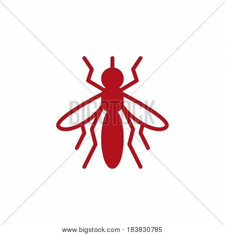 Mosquito icon vector filled flat sign solid colorful pictogram isolated on white. Symbol logo illustration. Pixel perfect