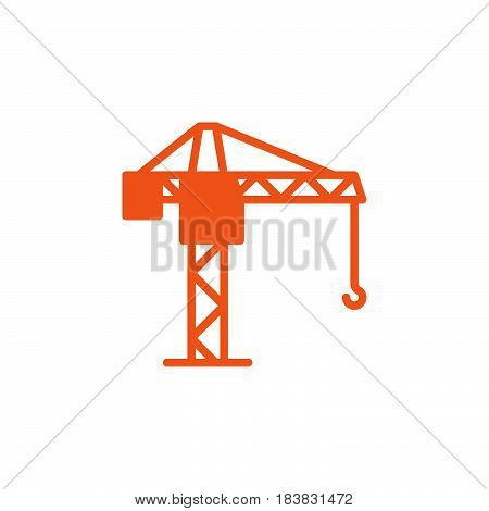 Tower crane icon vector filled flat sign solid colorful pictogram isolated on white. Symbol logo illustration. Pixel perfect