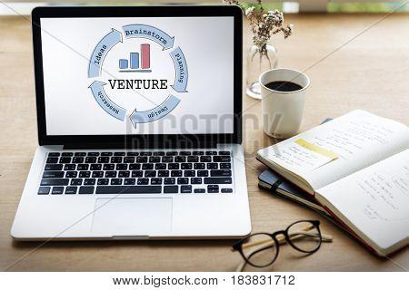 Business Venture Success Diagram Concept