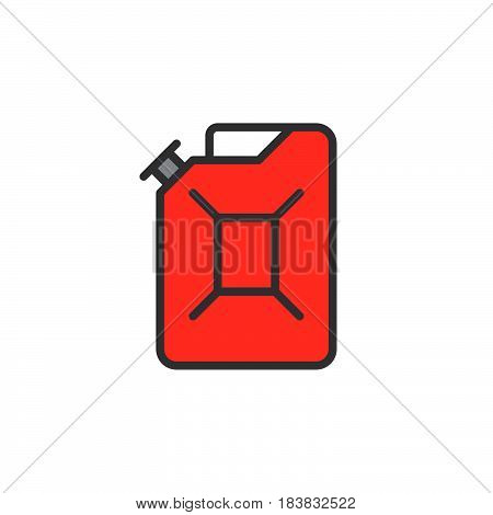 Jerrycan line icon filled outline vector sign linear colorful pictogram isolated on white. Symbol logo illustration. Editable stroke. Pixel perfect