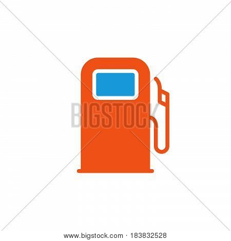 Gas station fuel dispenser icon vector filled flat sign solid colorful pictogram isolated on white. Symbol logo illustration. Pixel perfect