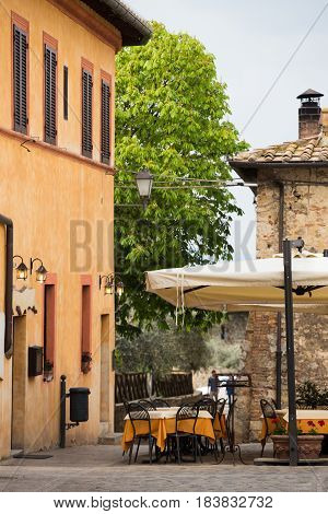 Street Cafe At The Italy