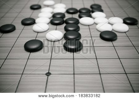 Go game or Chinese board game background