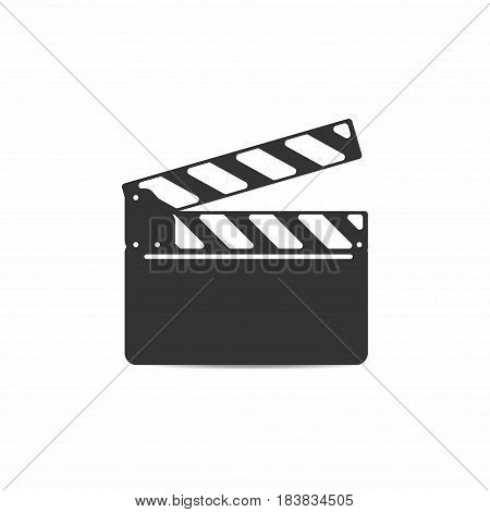 Clapper board with mounting isolated on background. Vector