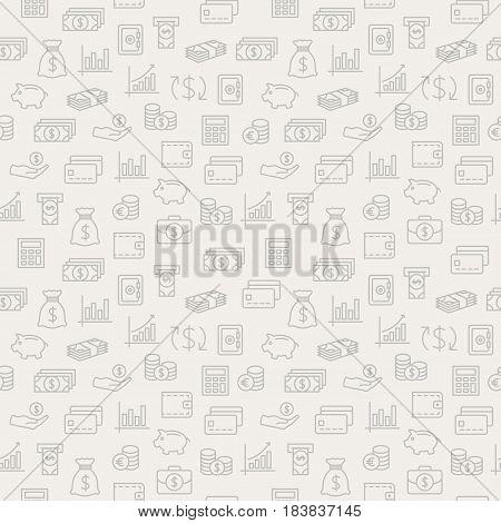 Money seamless pattern. Background for your design.