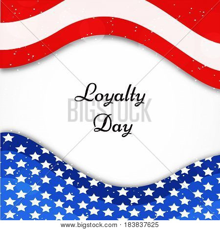 Illustration of blue and red abstract with Loyalty day text