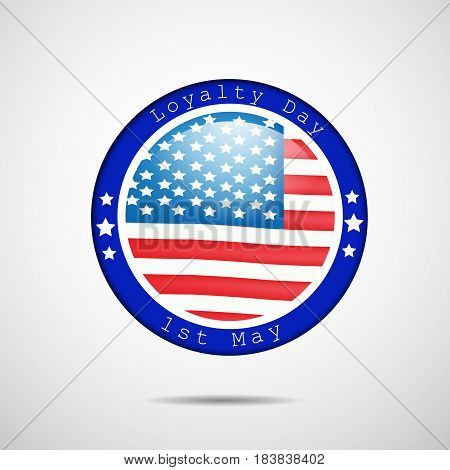 Illustration of USA Flag for Loyalty Day