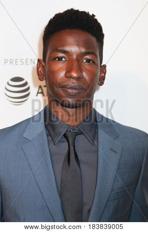 NEW YORK, NY - APRIL 26: Mamoudou Athie attends 'The Circle' premiere during the 2017 Tribeca Film Festival at BMCC Tribeca PAC on April 26, 2017 in New York City
