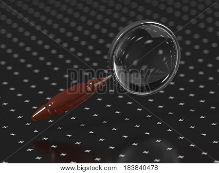 magnifying glass, 3d render