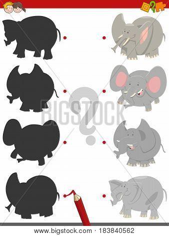 Shadow Activity With Elephants