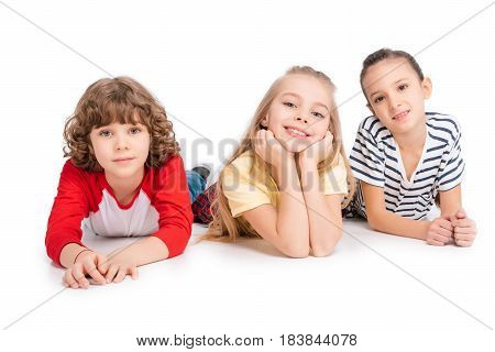 Group Of Friends Lying On Floor
