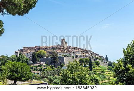 old town in Saint Paul de Vence France.
