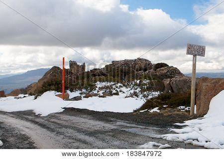 The infamous Jacob's Ladder road climb at Ben Lomond, Tasmania, Australia